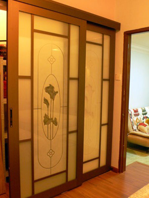 Sliding Door With Texture Design