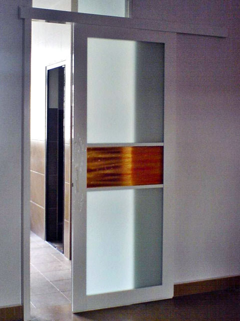 Sliding Door With Top Panel